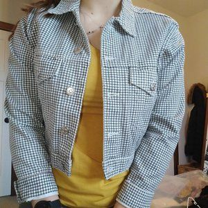 Checkered Denim Jacket